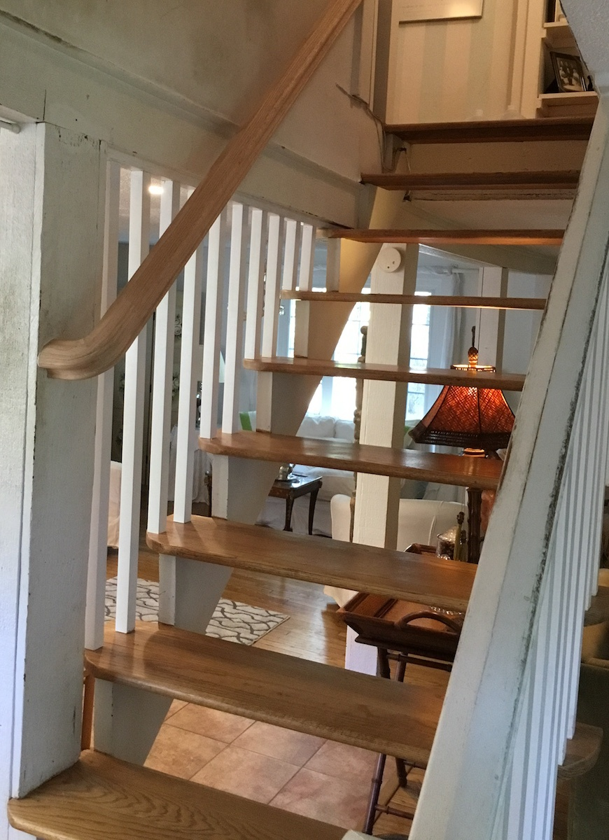 Adding Spindles And A Banister To Floating Stairs Monk S
