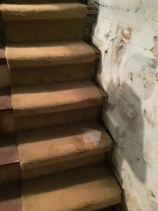 Rickety and Stained Old Staircase