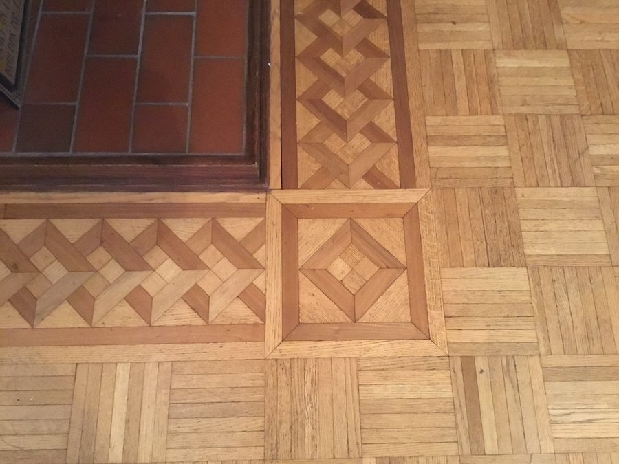 Dark Hardwood Floor Staining Original Parquet Detail