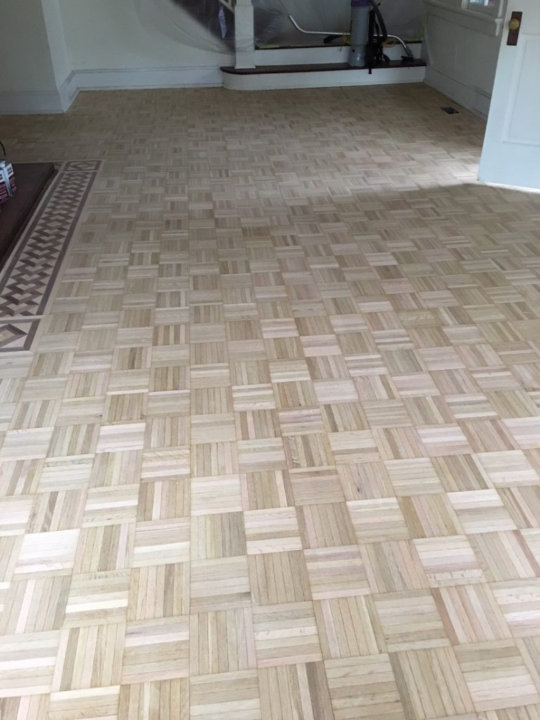 Freshly Sanded Parquet Floors