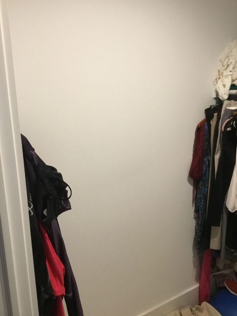 Closet With Open Wall Space In Back