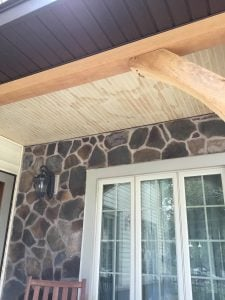 New Cedar Beadboard Ceiling and Cedar Brackets