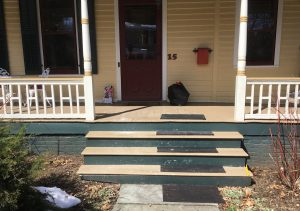 Before Custom Built Railings and New Steps