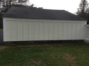 Repaired and Painted Detached Garage