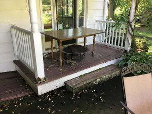 Existing Wood Porch Suffering Rot