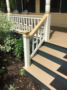 New Porch Steps with Built To Match Railings