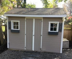 Shed Front After Repainting