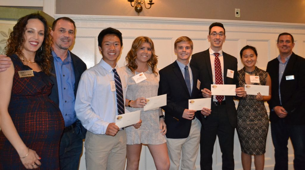 2018 Monk's Service Scholarship Winners and Monk family - Viviane Monk, Ty Monk, Chris Kang, Mackenzie May, Dylan McCauley, Freddie Hayeck, Mira Yang, Trevor Monk