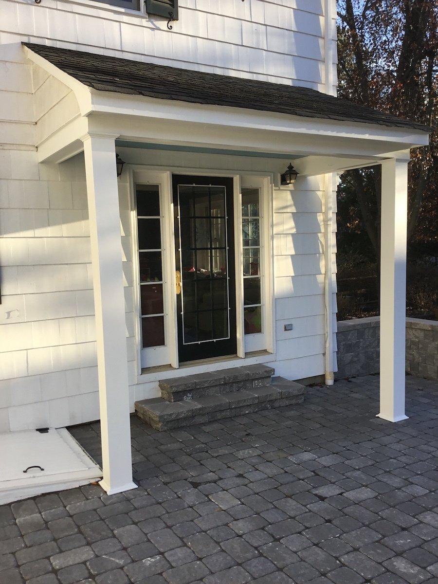 New Columns For Back Door Overhang Monk Home Improvements