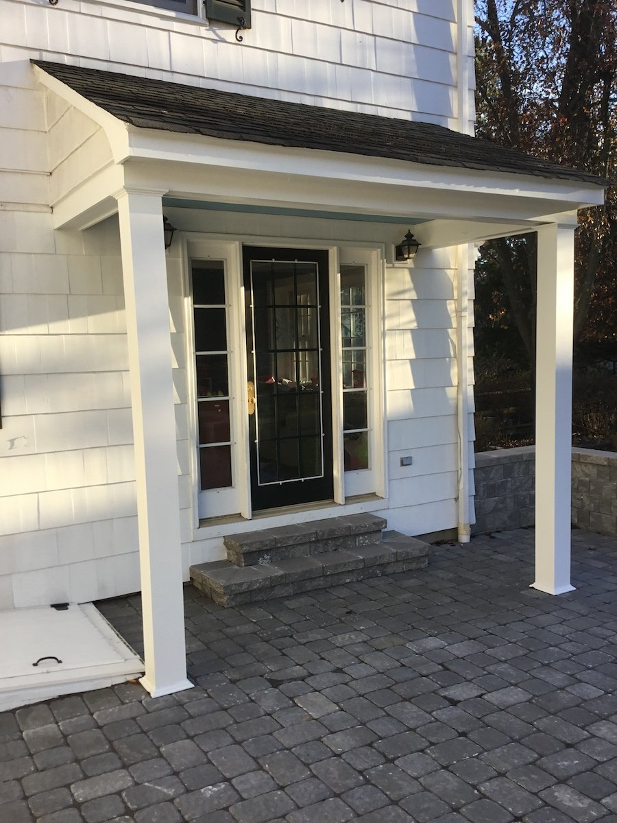 New Columns For A Back Door Overhang Monk S Home