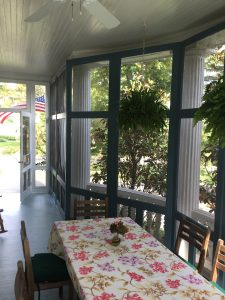 Painting a Screened in Porch