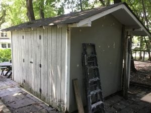 Shed Before Painting
