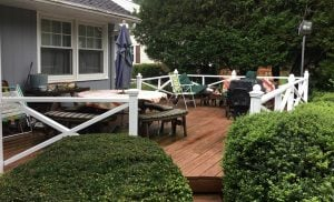 Painted Deck Railings