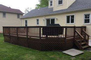 Before Deck Repair and Staining