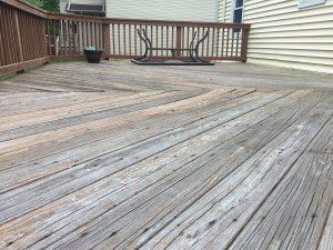 Warped and Splintering Floorboards