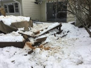 Destroyed Bench and Boards