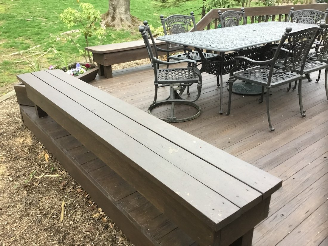 Repaired Deck - New Bench and Floorboards