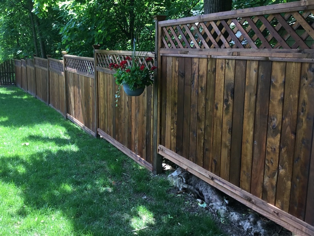 Fence Staining Project