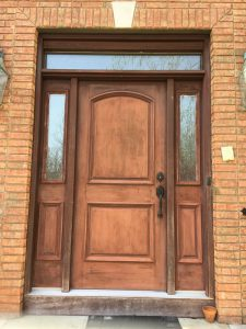 Fiberglass Door With Peeling Gel Stain