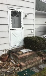 Existing Screen Door and No Railing