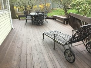 Power washed and Stained Deck