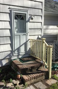 Pressure-Treated Railing and New Storm Door
