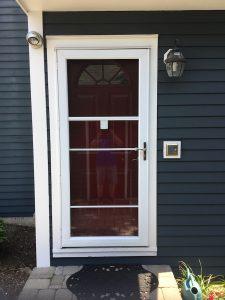 New Retractable Screen Storm Door