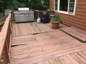 Single Level Deck Before
