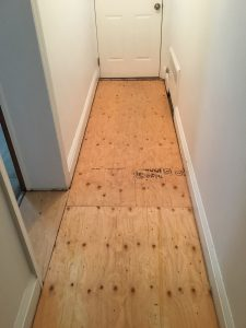 New Subfloor to Backdoor