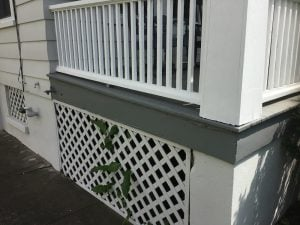 Repainted Porch After