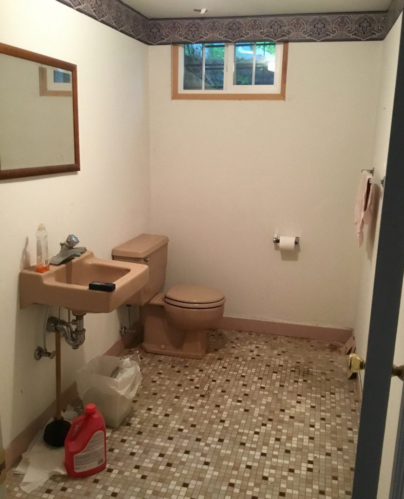 Basement Half Bath Remodel