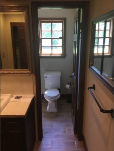 Separate bathroom areas
