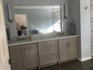 Bathroom Layout Change with large double vanity