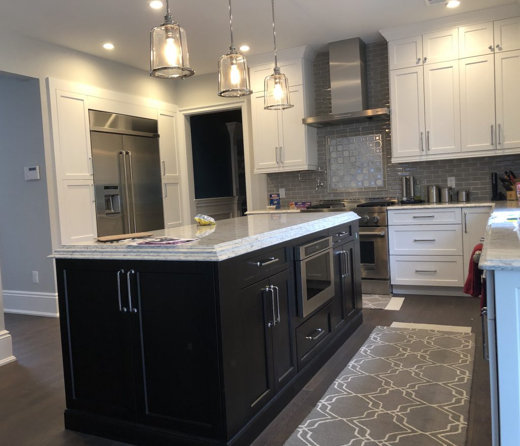 Kitchen Island Refrigerator: New Neutral Kitchen In Mendham, NJ