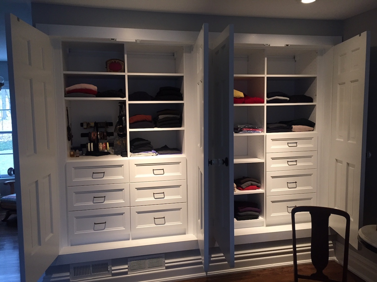 His And Hers Custom Closet Systems Monk Home Improvements