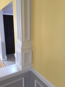 Detail of Trim Around Faux Column
