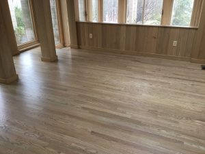 Freshly Finished Hardwood Floors