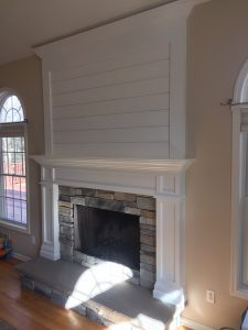 Shiplap Mantel and Bluestone Hearth