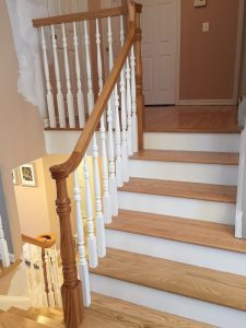 Stained and Sealed Upper Stair Treads