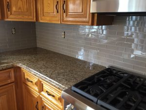 Detail of new Tile Backsplash