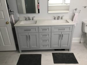New Double Vanity in the Bathroom