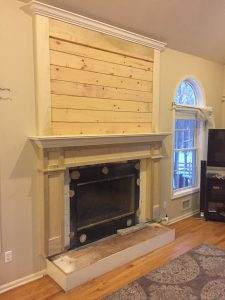 Shiplap Mantel Installed