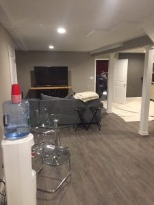 Finished Basement Area for Adults