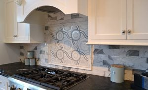 Tiled Backsplash on Display in Morristown Showroom