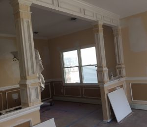 Wall Opening and Faux Columns