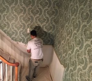 Removing the Chair Rail and the Wallpaper