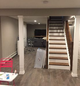 Finished Columns, New Flooring, New Ceiling