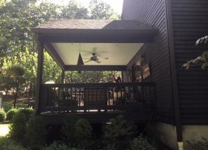 Side of Covered Open Porch