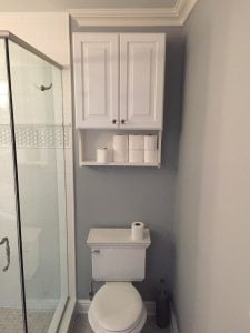 New Storage Cabinet over Toilet
