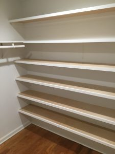 Master Bedroom Closet with New Shelving